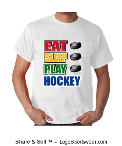 Eat,Sleep,Play,Hockey Design Zoom